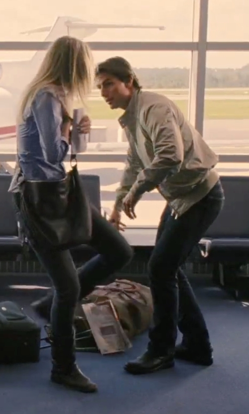 Tom Cruise with Officine Creative Zip-Up & Buckle Ankle Boots in Knight and Day