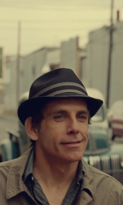 Ben Stiller with Brixton 'Wesley' Wool Fedora Hat in While We're Young