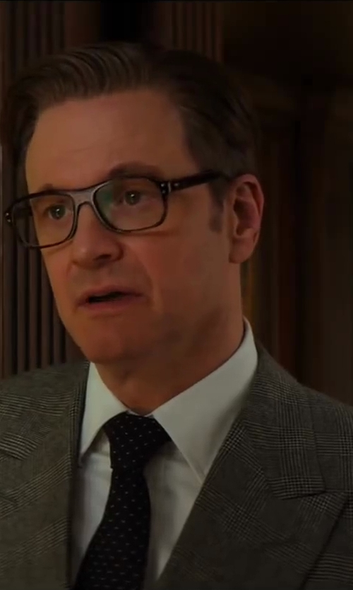 Colin Firth with Turnbull & Asser White Cotton-Twill Shirt in Kingsman: The Secret Service