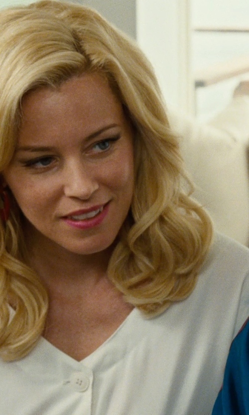 Elizabeth Banks with Splendid Button-Tab Henley Tee Shirt in Love & Mercy