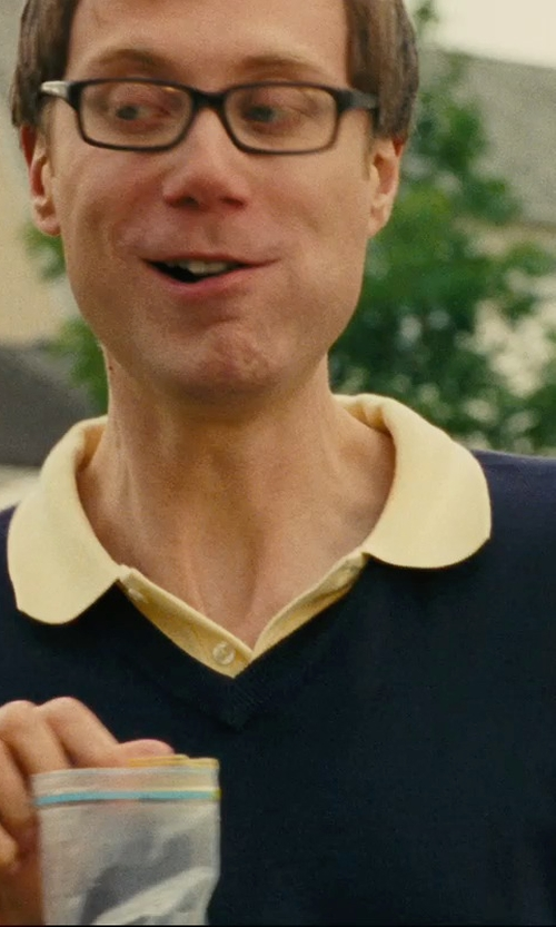 Stephen Merchant with Polo Ralph Lauren Classic Short-Sleeved Cotton Mesh Polo - Regular Fit in Hall Pass