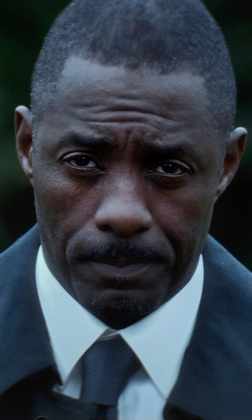 Idris Elba with Herno Laminar Trench Coat in The Gunman