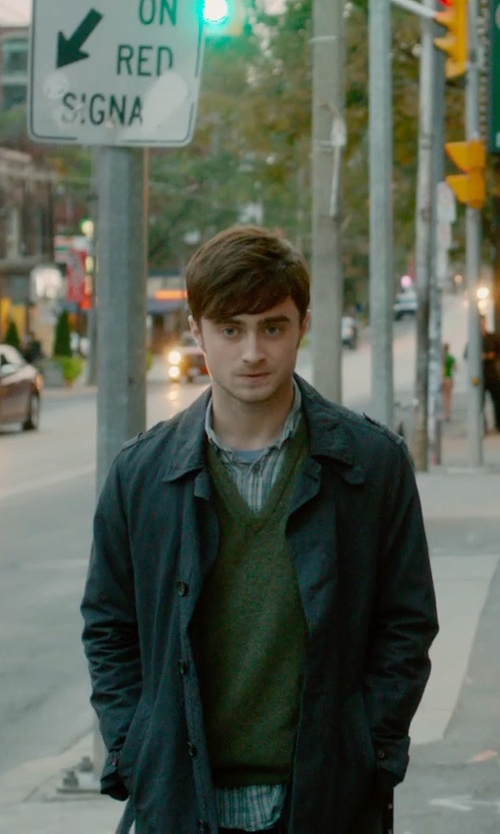 Daniel Radcliffe with B.D. Baggies Checked Shirt in What If