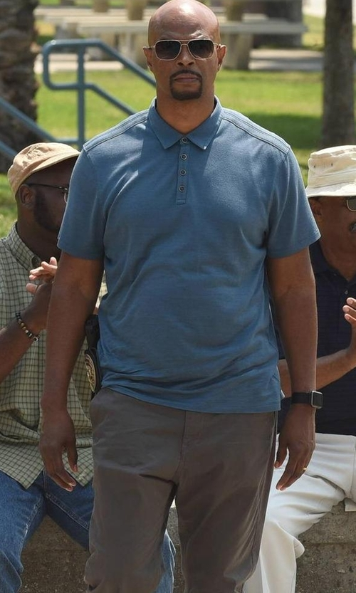 Damon Wayans with Peter Millar Summertime Short-Sleeve Polo Shirt in Lethal Weapon