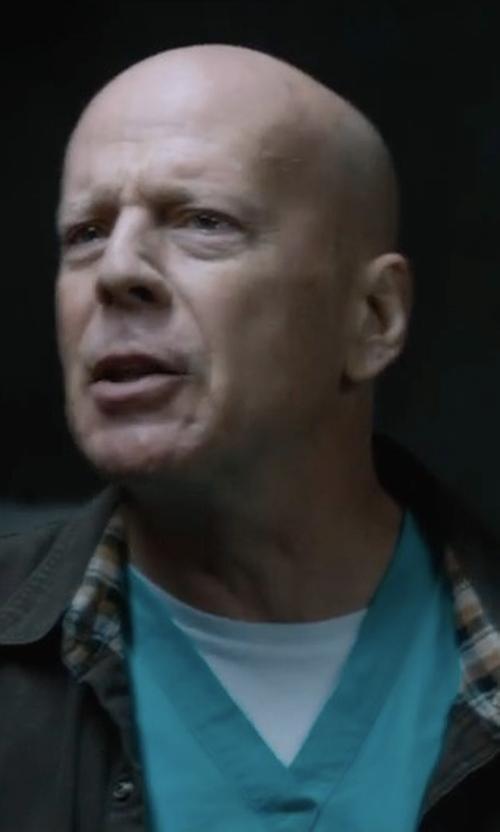 Bruce Willis with RVCA Benj MVP Coach's Jacket in Death Wish