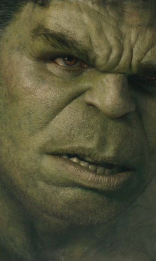 Mark Ruffalo with Andy Park (Concept Artist) Hulk in Avengers: Age of Ultron