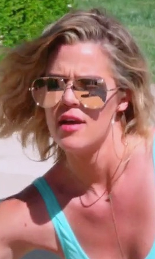 Khloe Kardashian with Quay x Desi Perkins High Key Sunglasses in Keeping Up With The Kardashians