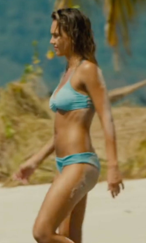 Jessica Alba with Basta Surf Zunzal Reversible Bikini in Mechanic: Resurrection