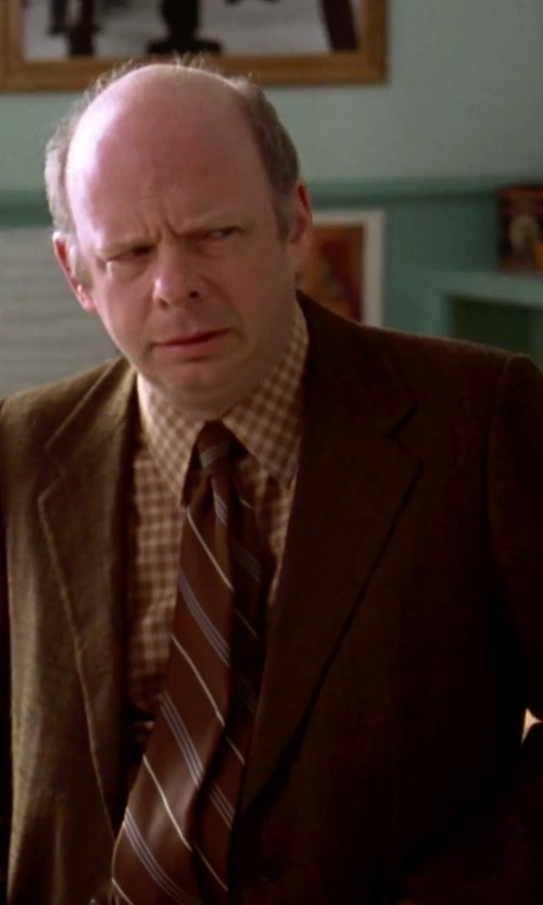 Wallace Shawn with Gitman Woven Silk Tie in Clueless