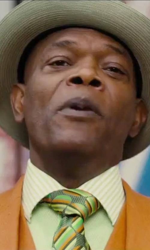 Samuel L. Jackson with Kiton Striped Tie in Chi-Raq