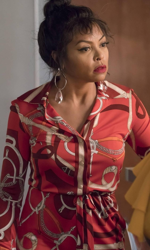 Taraji P. Henson with Hermes Vintage Shirt Dress in Empire