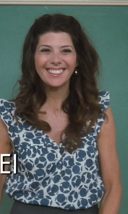 Marisa Tomei with Cacharel Silk Blouse in Crazy, Stupid, Love.