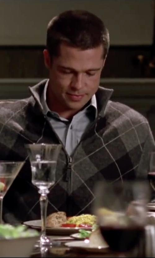 Brad Pitt with W.R.K Trim Fit Stretch Twill Dress Shirt in Mr. & Mrs. Smith