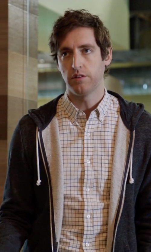 Thomas Middleditch with Alternative Rocky Zip Hoodie in Silicon Valley