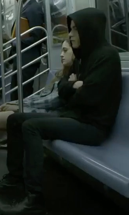 Rami Malek with Rag & Bone Standard Issue Fit 1 Skinny Fit Jeans in Mr. Robot