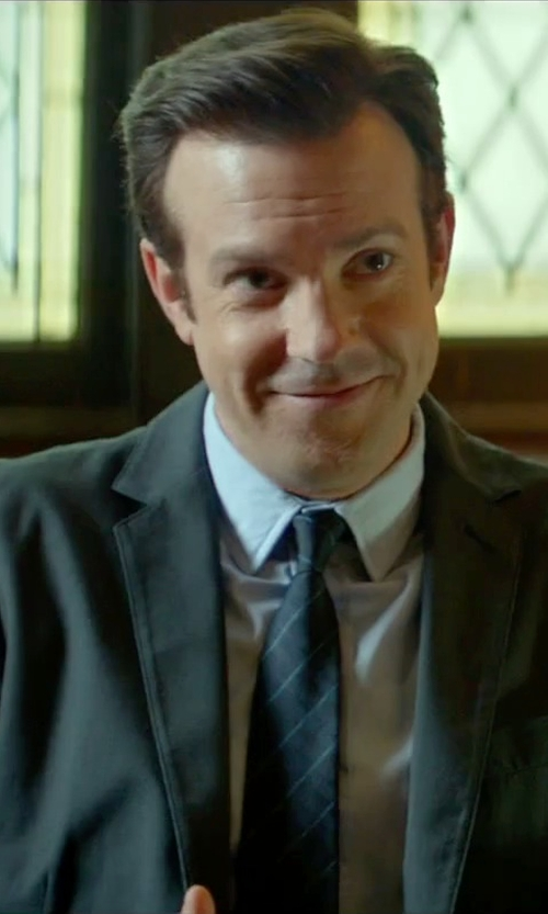 Jason Sudeikis with J. Lindeberg Hopper Wool Fancy Speckled Jacket in Sleeping with Other People
