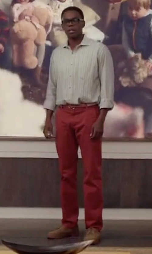 William Jackson Harper with L.B.M. 1911 Casual Chino Pants in The Good Place
