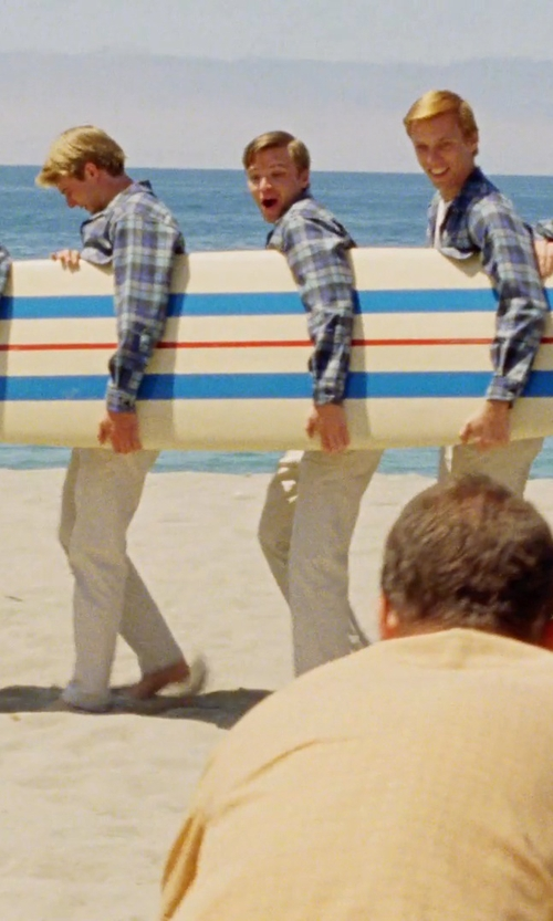 Unknown Actor with Roland Longboard Surfboard in Love & Mercy