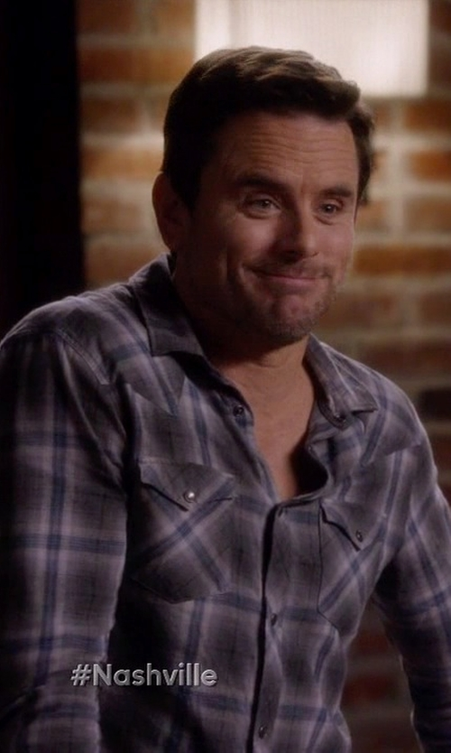 Charles Esten with Tin Haul Plaid Snap Western Shirt in Nashville
