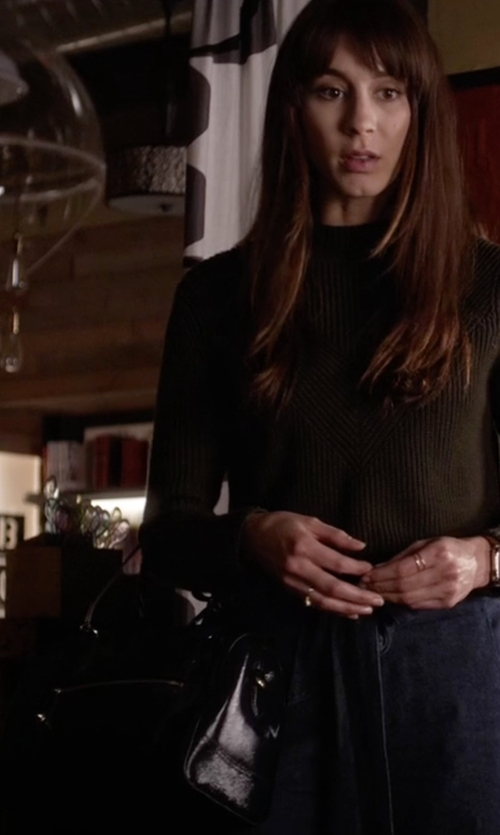 Troian Bellisario with Michael Kors Julia Large Satchel Bag in Pretty Little Liars