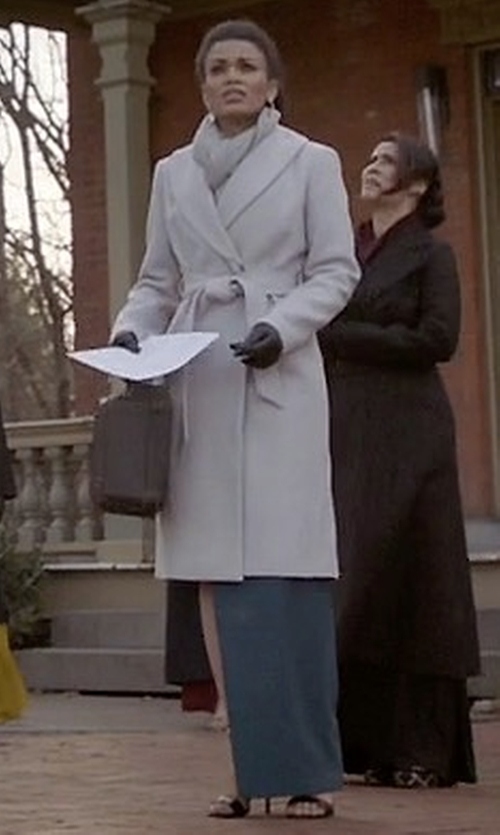 Pearl Thusi with A.L.C. Augusto Coat in Quantico