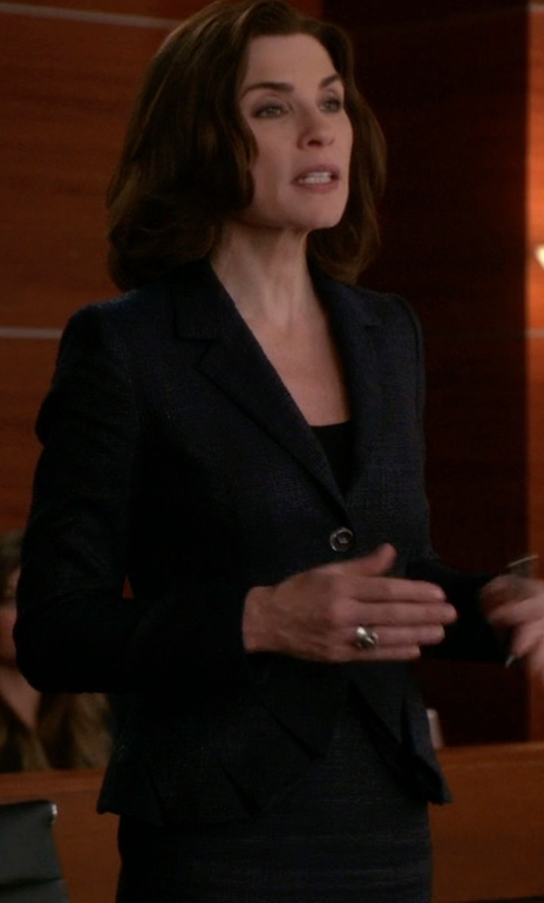 Julianna Margulies with Theory Flare Jacket in The Good Wife
