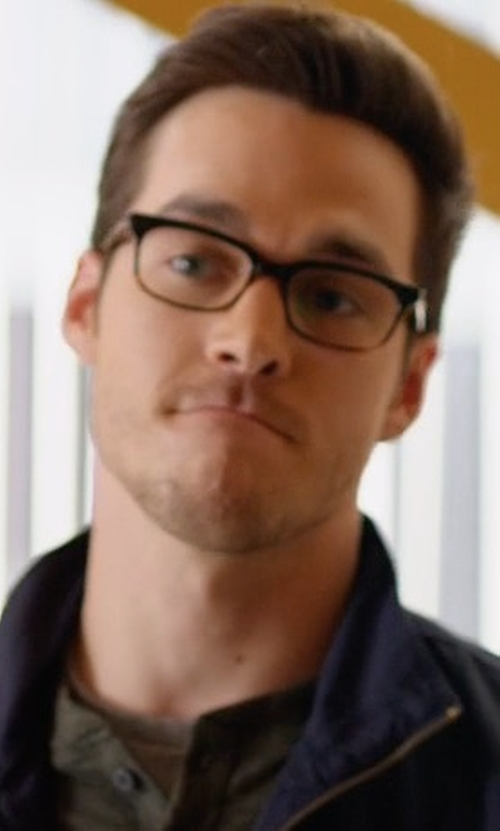 Chris Wood with Ermenegildo Zegna Men's Square Eyeglasses in Supergirl