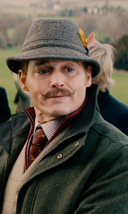 Johnny Depp with Paul Smith Dandelion Skinny Tie in Mortdecai