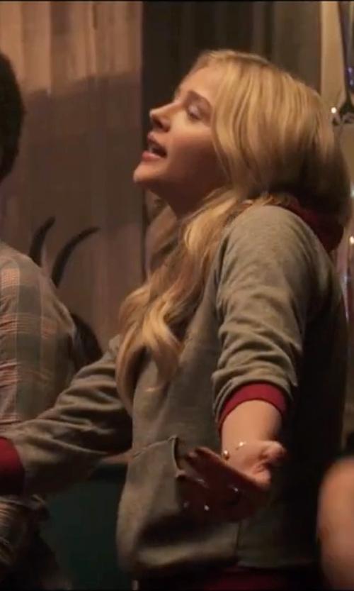 Chloë Grace Moretz with Naadam Pierce Cotton Cashmere Hoodie in Neighbors 2: Sorority Rising