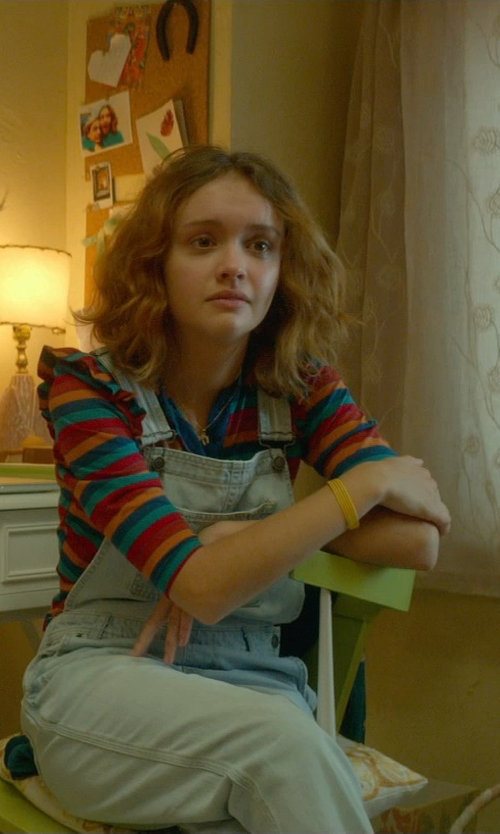 Olivia Cooke with Westbound 3/4 Sleeve Boatneck T-Shirt in Me and Earl and the Dying Girl