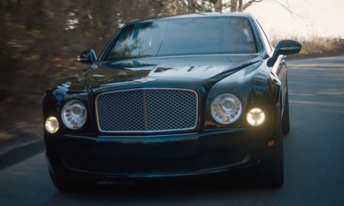 Damian Lewis with Bentley 2013 Mulsanne Sedan in Billions