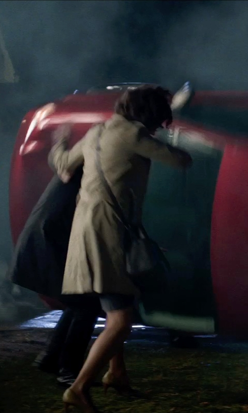Jane Adams with Zara Basic Double Breasted Trench Coat in Poltergeist