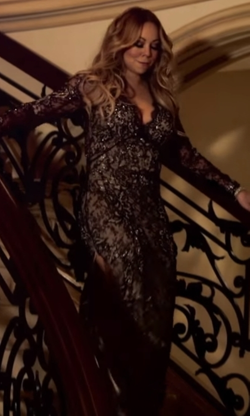 Mariah Carey with Alessandra Rich  Ruched Guipure Lace Gown in Mariah's World