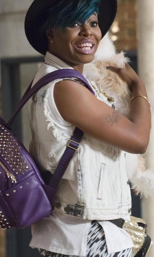 Ta'Rhonda Jones with Mavi Jeans Jodi Frayed Denim Vest in Empire