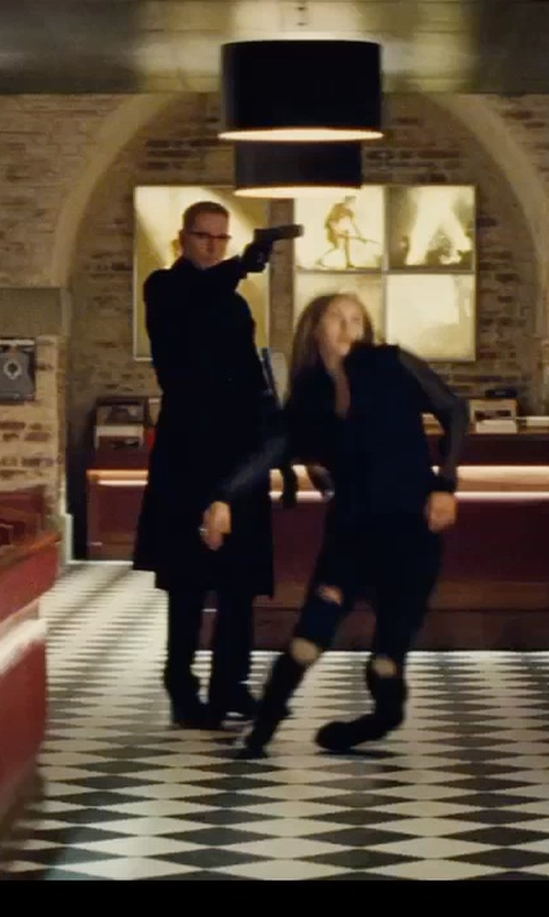 Sean Harris with Cashmere Boutique Men's Knee Length Cashmere Blend Overcoat in Mission: Impossible - Rogue Nation