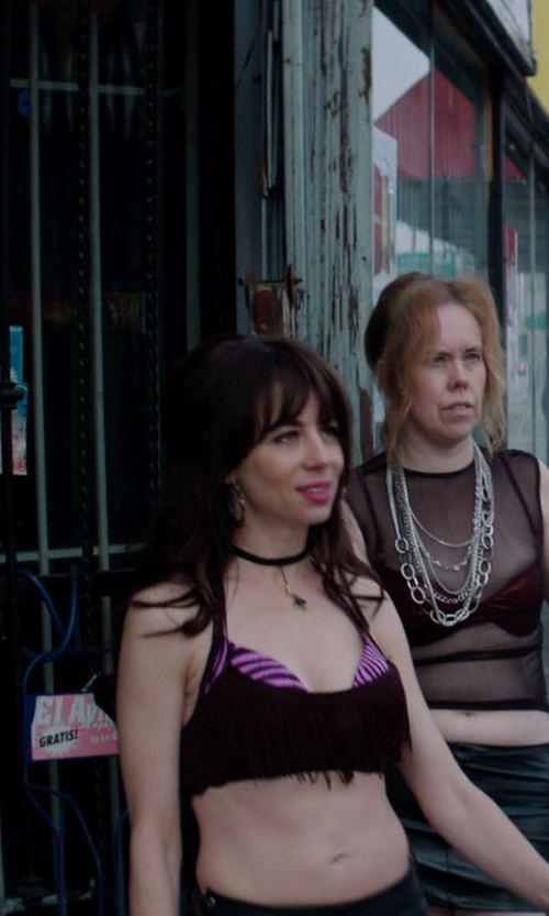 Natasha Leggero with Forever 21 Cropped Halter Tube Top in Neighbors