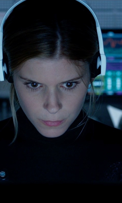 Kate Mara with Ralph Lauren Black Label Cailee Jersey Turtleneck in Fantastic Four