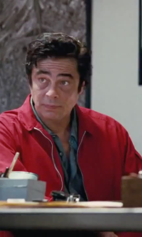 Benicio Del Toro with Cutter & Buck 'Blakely' Weathertec Wind & Water Resistant Full Zip Jacket in Inherent Vice