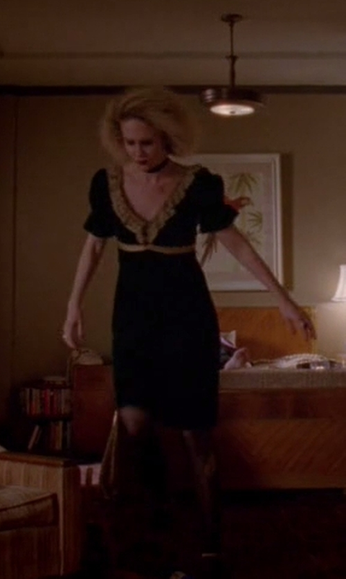 Sarah Paulson with Lafayette 148 New York Akira Mixed Media Dress in American Horror Story