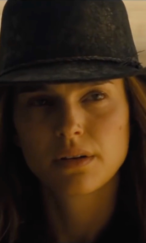 Natalie Portman with Brixton Wesley Fedora Hat in Jane Got A Gun