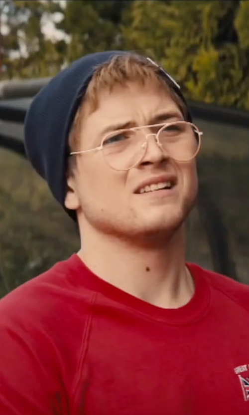 Taron Egerton with The North Face Anygrade Oversized Beanie Hat in Eddie The Eagle