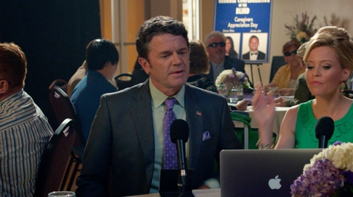 John Michael Higgins with Brooks Brothers Madison Fit Two-Button 1818 Suit in Pitch Perfect 2