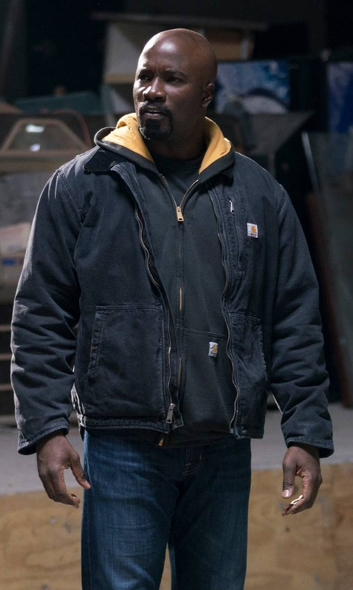Mike Colter with Carhartt Full Swing Armstrong Jacket in Marvel's The Defenders