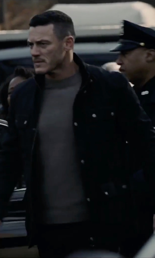 Luke Evans with Everlane The Merino Waffle Crew Sweater in The Girl on the Train