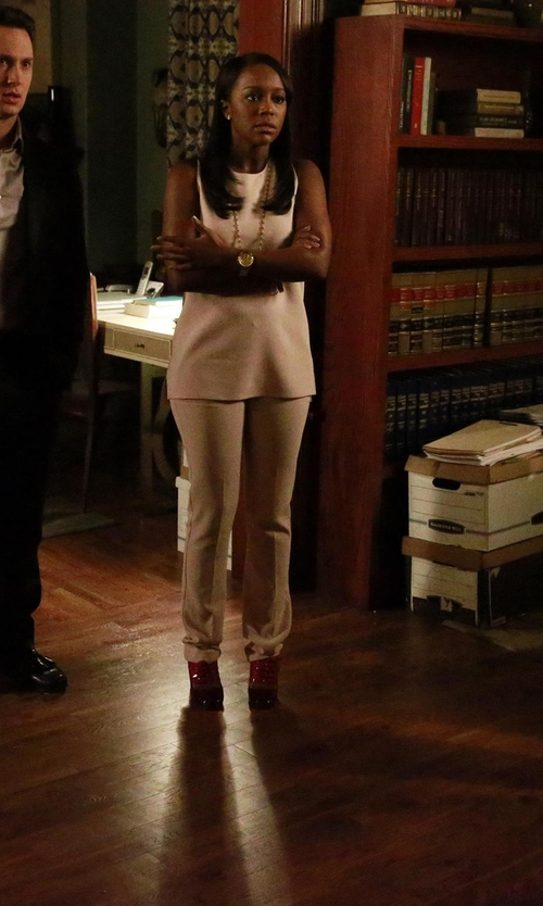 Aja Naomi King with Ippolita Glamazon Gold-Station Necklace in How To Get Away With Murder