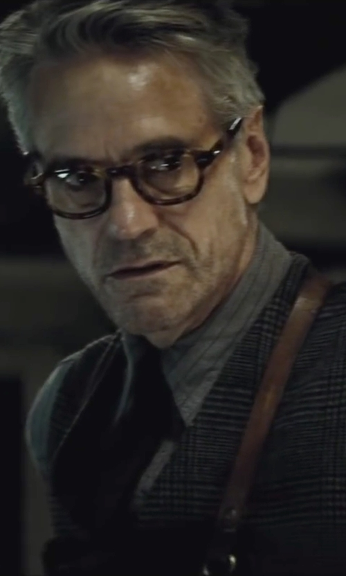 Jeremy Irons with Perry Ellis Button Front Vest in Batman v Superman: Dawn of Justice
