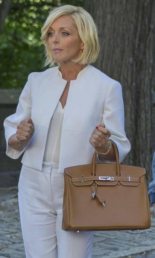 Jane Krakowski with Hermes  Birkin 'Gold' Togo Leather Bag   in Unbreakable Kimmy Schmidt
