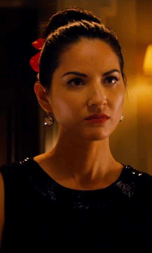 Olivia Munn with Emilio Schubert Vintage Embellished Dress in Mortdecai