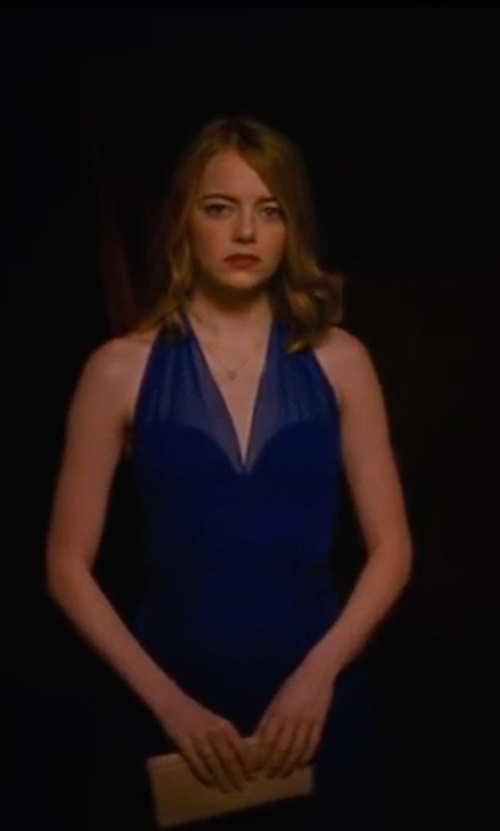 Emma Stone with Jason Wu Halter Dress in La La Land
