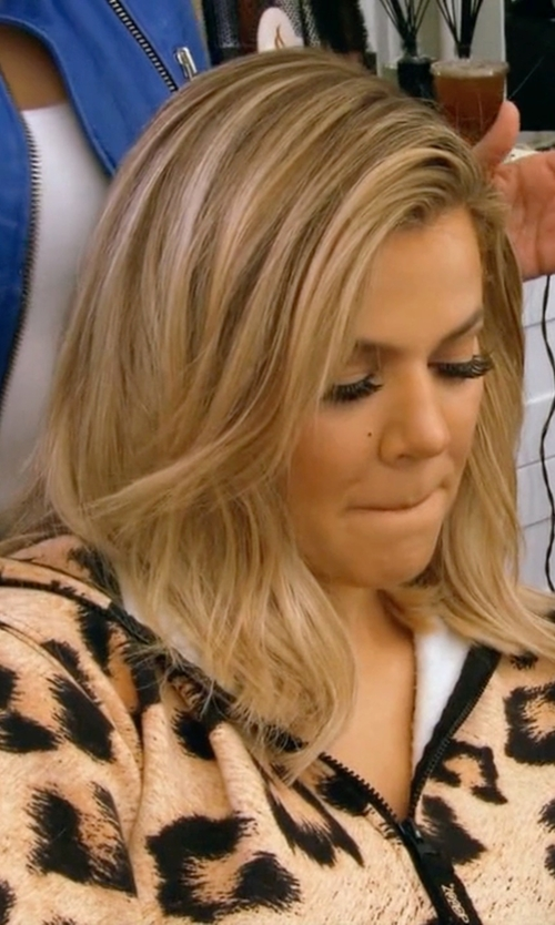 Khloe Kardashian with Miss Trendy Animal Print Onesie in Keeping Up With The Kardashians